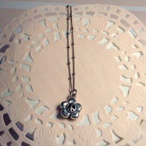 Brighton silver peace necklace